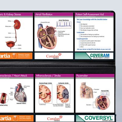 Cardiologist's stationery and patient education resources